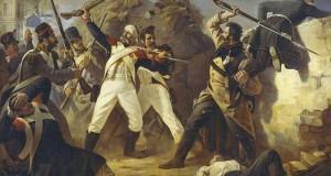 Подвиг гренадера лейб-гвардии Финляндского полка Леонтия Коренного в битве под Лейпцигом 1813 года. П. Бабаев.