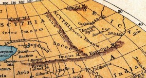 Рис. 1. Вырезка из карты К. Птолемея, 150 год н.э.