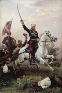 Генерал Михаил Скобелев во время Русско-турецкой войны (1877 - 1878). Художник Николай Дмитриев-Оренбурский (1883)
