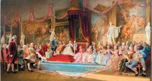 Инаугурация Императорской Академии художеств 7 июля 1765 года, картина В. Якоби