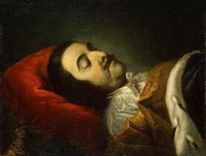 Таннауер И.Г. Портрет Петра I на смертном одре. 1725. ГЭ