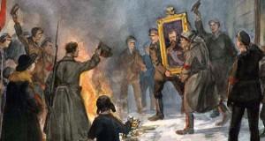 Рисунок из серии Петроград революционный художника Ивана Владимирова